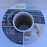 Уплотнитель оконный Sanok Е-профиль коричневый  9*4mm