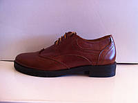 Туфли женские оксфорды замша и кожа код 588