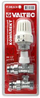 Вентиль радіаторний з термоголовкою прямий 1/2 valtec