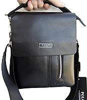 Небольшая мужская сумка - планшет Polo с ручкой. Небольшая сумка. Размер 22*17 см КС12