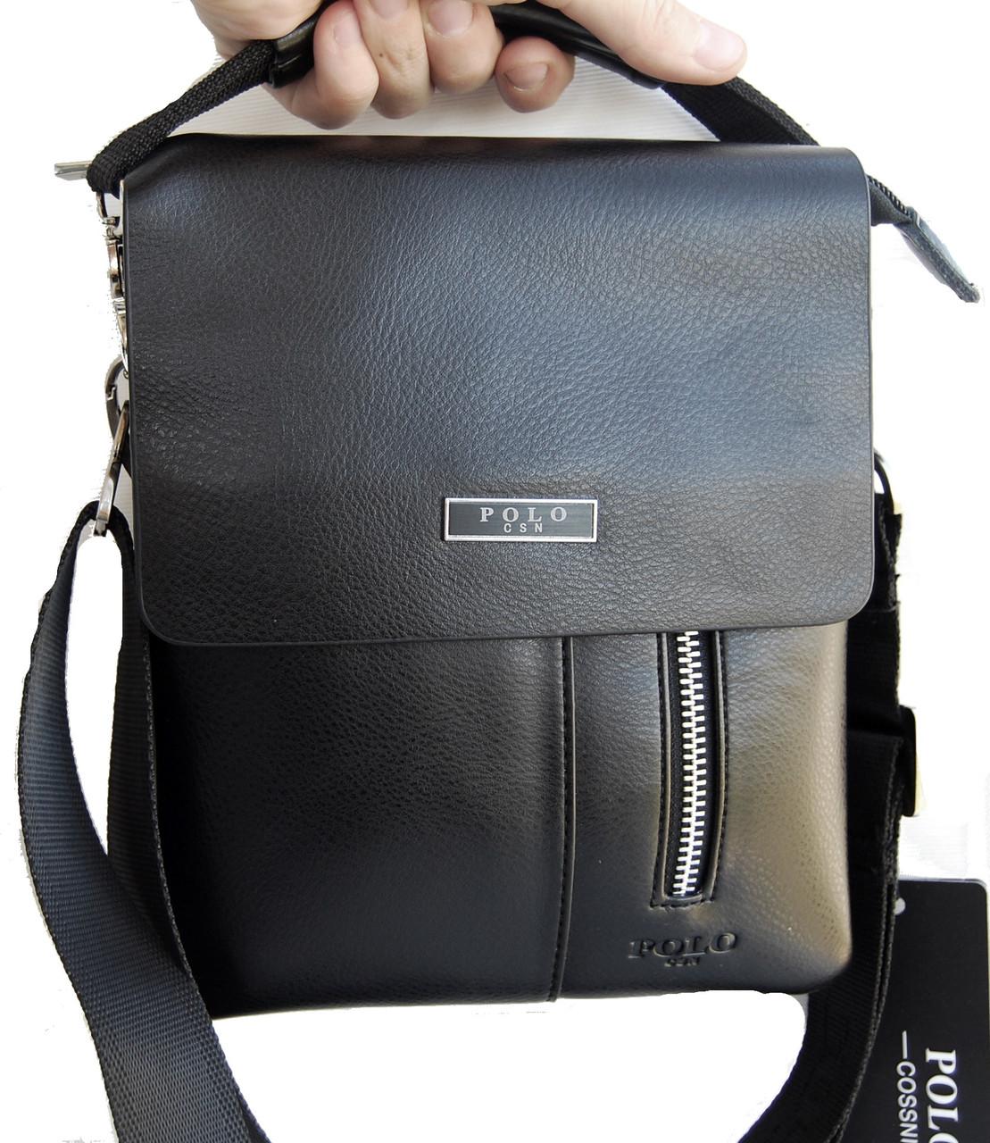 891b14c98e9d Небольшая мужская сумка - планшет Polo с ручкой. Небольшая сумка. Размер  22*17