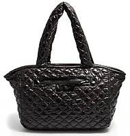 Классическая женская стеганая сумка из болоньи POOLPARTY COCOON pool-cocoon-black Черная
