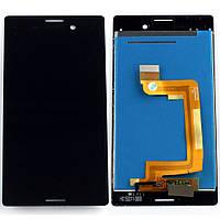 Дисплей (экран) для Sony E2303 Xperia M4 Aqua сони (E2306, E2312, E2333) + тачскрин, цвет черный