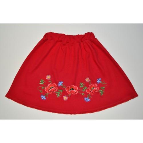Детская юбка вышиванка Маки Размер 122 см