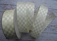 Стрічка атласна 25мм шахматка № 12 айворі