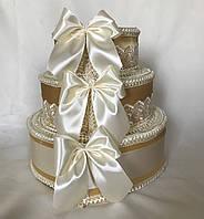 Коробка для денег Тортик Золотой