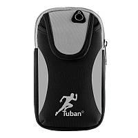 "Сумка на руку для смартфонов 4-6"" дюймов Tuban Sport Black"
