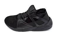 Кроссовки мужские кожаные Restime Style 17587 Black