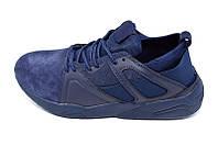 Кроссовки мужские кожаные Restime Style 17587 Blue