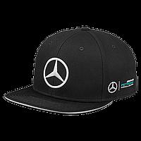 Бейсболка Mercedes F1 Cap Lewis Hamilton, Flat Brim, Black, Edition 2017