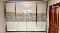 """Шкаф-купе стекло  """"Lacobel"""" с крашеным рисунком, фото 1"""