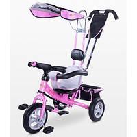 Детский трехколесный велосипед Caretero Derby (pink), с родительской ручкой