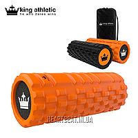 Массажный роллер King Athletic Foam Roller (оранжевый, 33х12.7 см)