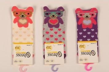 Р. 13-15 ( 0-6 мес.)  Носочки для новорожденных Bross 3d МИШКА