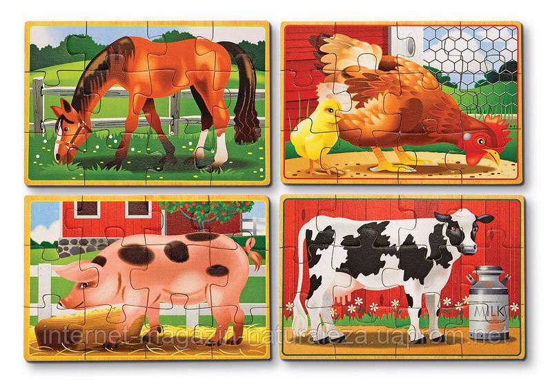 Набор из 4-ех пазлов ТМ Melissa&Doug Животные на ферме