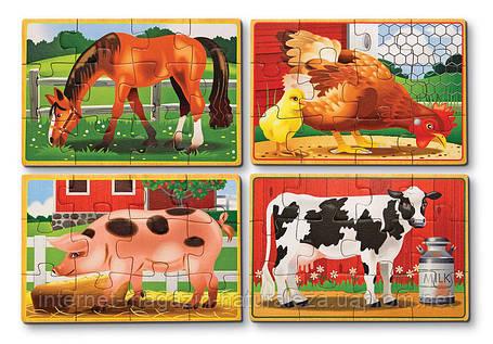 Набор из 4-ех пазлов ТМ Melissa&Doug Животные на ферме, фото 2