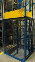 Подъёмник-лифт в металлической несущей шахте под заказ. Складской шахтный подъёмник г/п 200 кг.