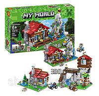 """Конструктор Minecraft Lele 33018 Аналог LEGO 31025 """"Домик в горах 3 в 1"""" 592 дет"""