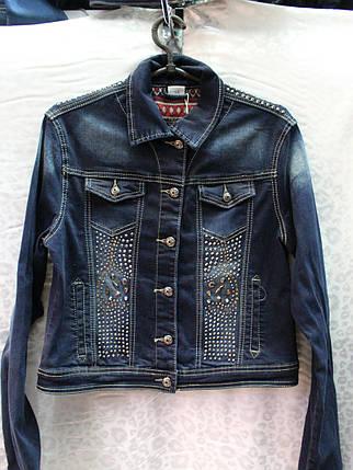 Женский пиджак с декором из страз, фото 2