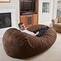 """Диван кровать""""Ruf"""" коричневы , бескаркасный диван, диван раскладной,маленький диван,диван трансформер., фото 1"""