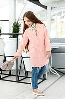 Кашемировое пальто для девочки,р.10-13 лет(розовый)
