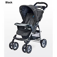 Прогулочная коляска Caretero Monaco - black, книжка, дождевик, чехол
