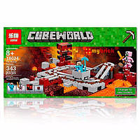 """Конструктор Lepin 18024 (Аналог LegoMinecraft 21130) """"Железная дорога Нижнего мира"""" 343 деталей, фото 1"""