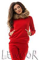 Незаменимый тёплый костюм для зимних прогулок Красный, Размер 42 (S)