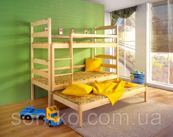 Ліжко Тріо з масиву дерева бук