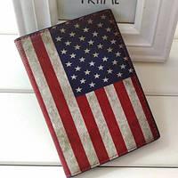 Кожаная обложка на паспорт Американский флаг