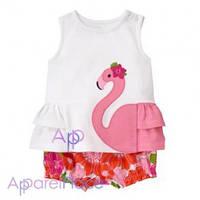 Gymboree Костюм на девочку Flamingo
