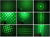 Зеленая лазерная указка с насадкой, разные режими, 500 mw, дальность свечения 5000 км, фото 1