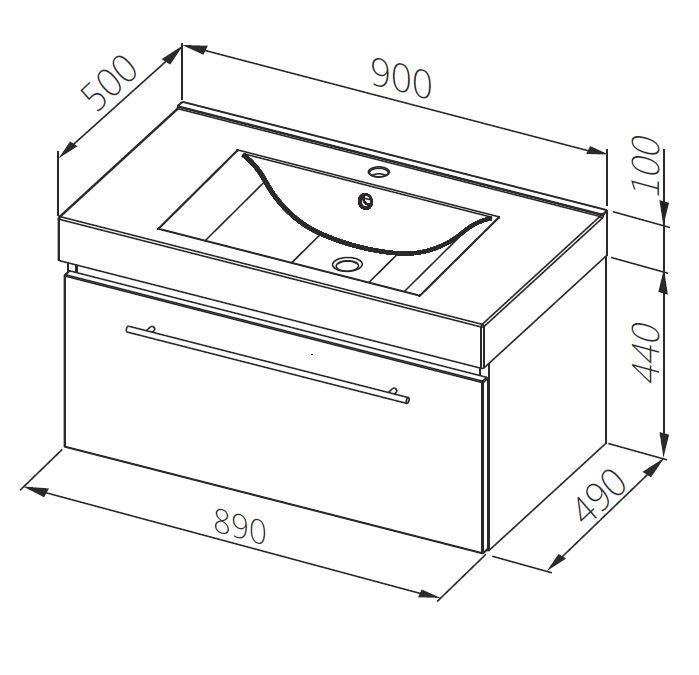 aquaform Тумба для раковины Aquaform Decora 90 см 0401-541612