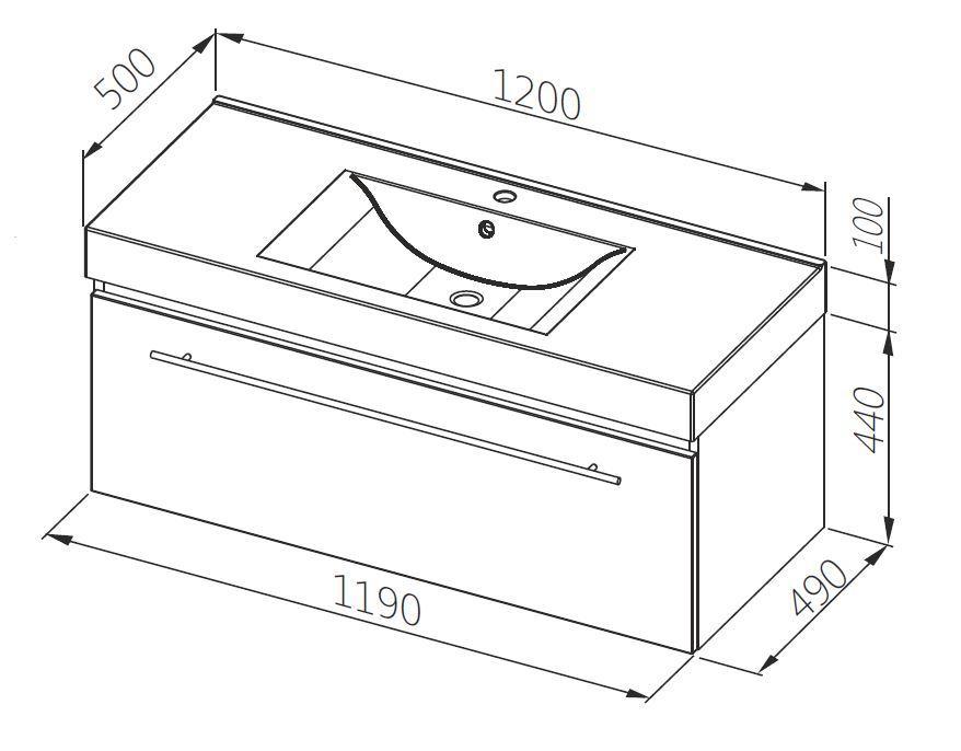 aquaform Тумба для раковины Aquaform Decora 120 см 0401-541613