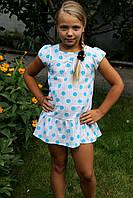 Детский сарафан в горошек