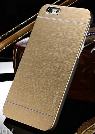 Чехол бампер Motomo для iphone 6 6S золотистый