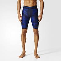 Компрессионные шорты мужские Adidas Techfit Chill Print CD2470