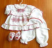 Крестильный набор для девочки | рост 68, 74  | крестильная одежда для девочки