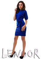 """Интересное платье с рукавом """"летучая мышь"""" Синий, Размер 48 (XL)"""