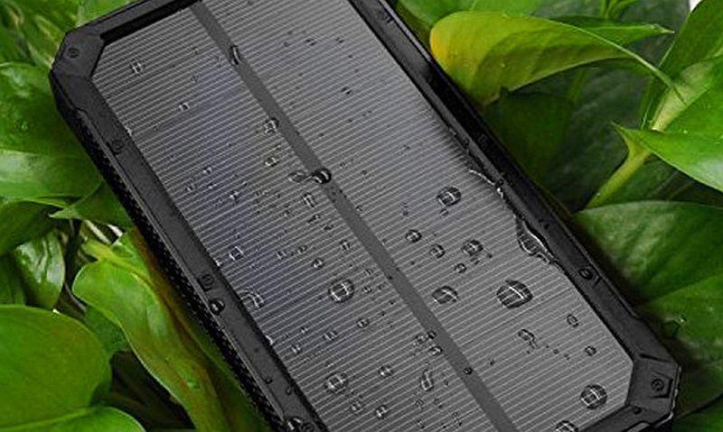 Солнечное зарядное устройство Power Bank Ukc 32800 mAh