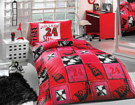 Постельное белье комплект HOBBY ранфорс College полуторный красный