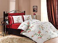 HOBBY сатин Christy евро бордовый Комплект постельного белья