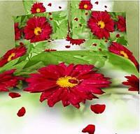 Постельное белье 3д Love You сатин Селена семейный (2 пододеяльника)