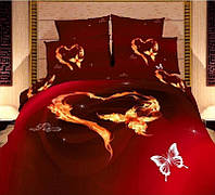 Комлект постельного белья Love You сатин Олимпия полуторный