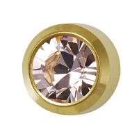 Серьги - гвоздики, золотой (бижутерия)