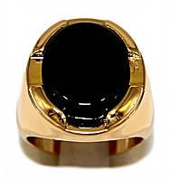 Печатка фирмы Xuping. Цвет: позолота. Камни: чёрный агат. Ширина: 20 мм. Есть 18 р. 19 р.