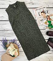 Трендовое платье-чехол с ненавязчивым леопардовым принтом  DR3573