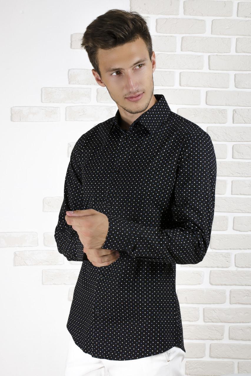 Рубашка чёрная с рисунком
