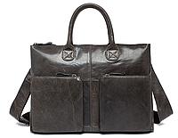 Портфель S.J.D. 7241J-1 кожаный Серый