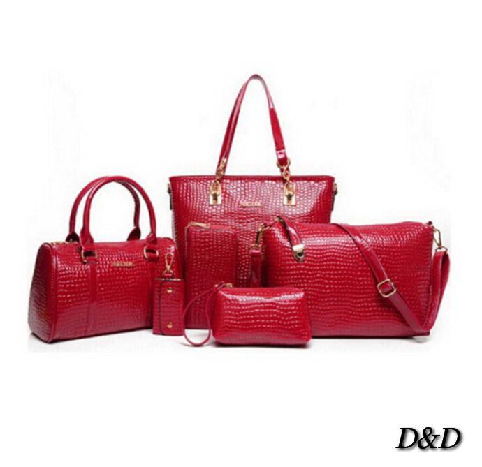 Набор женских сумок 6в1 красные